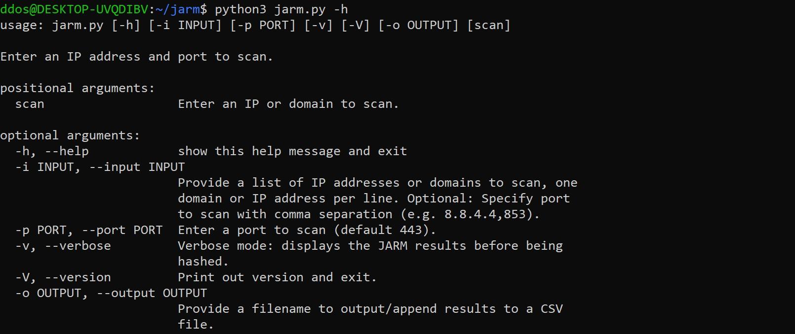TLS server fingerprinting tool