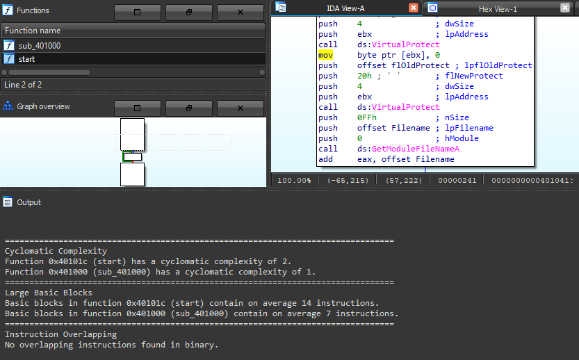 Obfuscation Detection IDA plugin